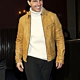 Tom Cruise smiled for photographers at the premiere.