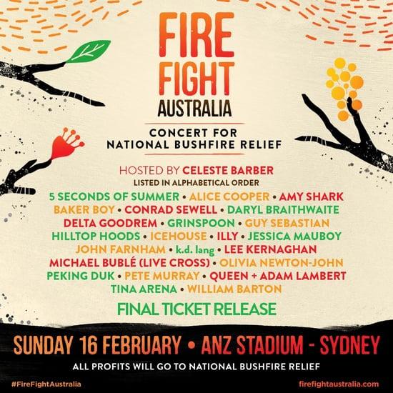 Fire Fight Australia Bushfire Relief Concert Details
