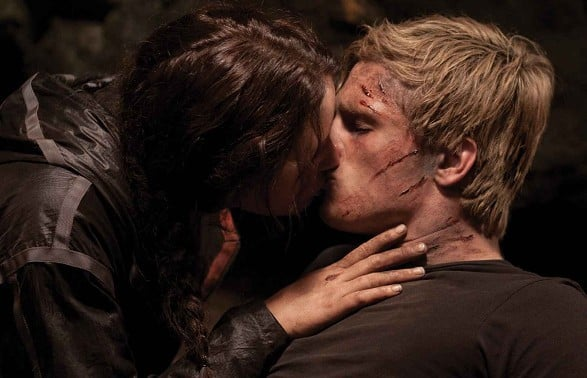 Katniss And Peeta The Hunger Games The Best Movie Kisses Of