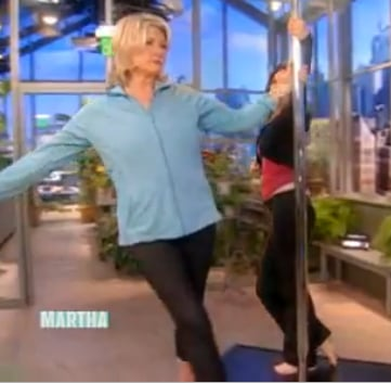 Martha Stewart Does S Factor Pole Dancing Workout