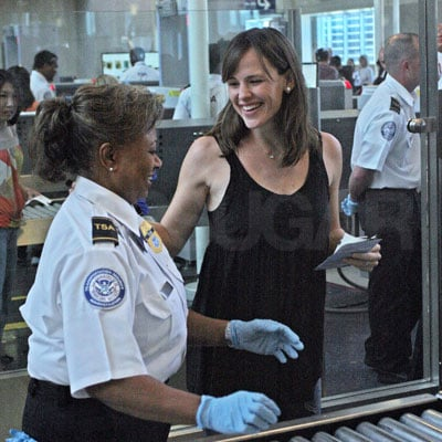 Jennifer Garner Smiles At LAX