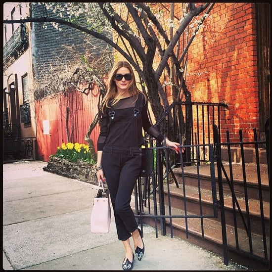 Olivia Palermo Wearing Overalls