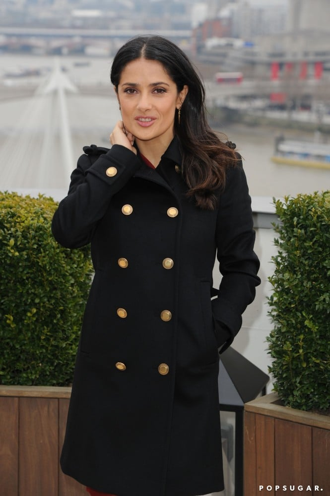 Salma Hayek posed in London.