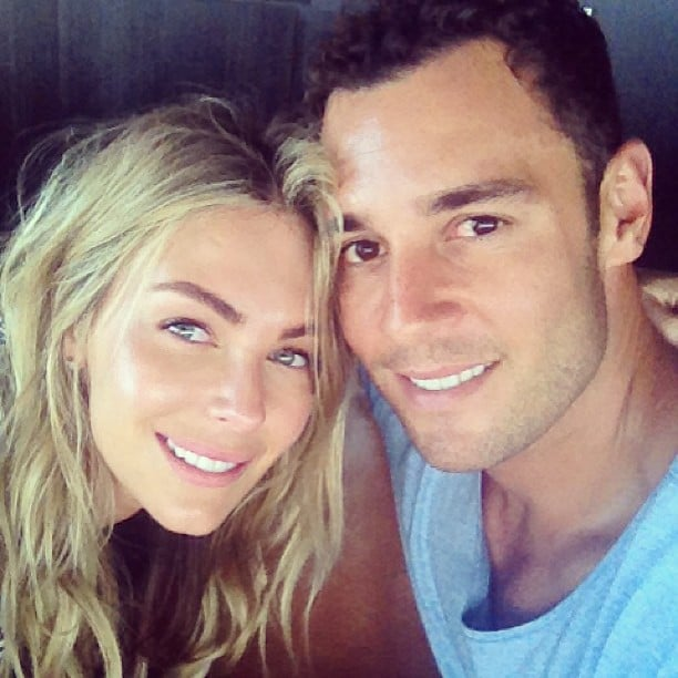 Jennifer Hawkins had afternoon drinks with her fiancé, Jake Wall, on the weekend. Source: Instagram user jenhawkins_
