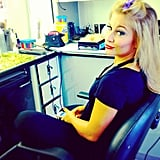 Shawn Johnson got prepped for Dancing With the Stars. Source: Instagram user shawnjohnson