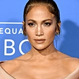 Jennifer Lopez With a Light Brown Top Knot