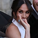 Meghan Markle Blue Ring at Her Wedding 2018