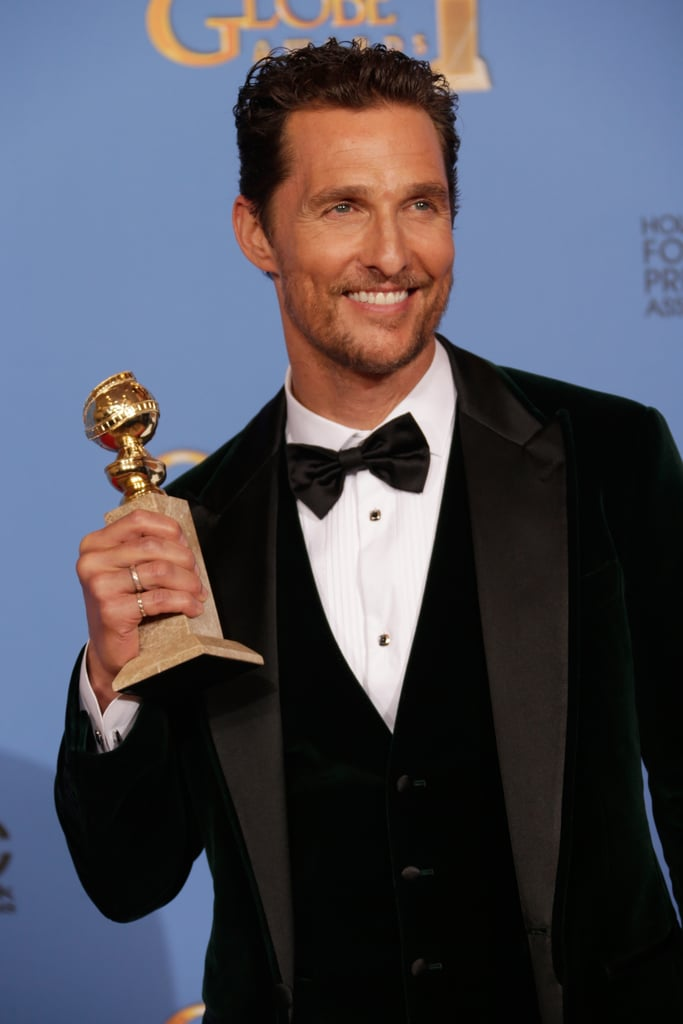 Matthew McConaughey showed off those pearly whites.