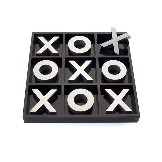 Your chic but playful pal will love the oversize Z Gallerie Tic Tac Toe Game ($40).