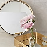 Anthropologie Brass Mirrored Tray