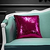 Reversible Sequin Decorative Throw Pillow