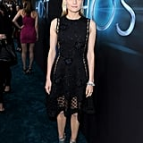 Diane donned a sheer, embellished LBD, fresh from the Thakoon Fall '13 runway, at the Host premiere in Hollywood. She then punched it all up with metallic Jimmy Choo booties, diamond earrings, and crystal-encrusted bracelets.