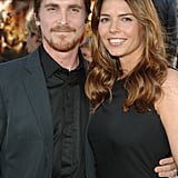 The pair posed for pictures at the June 2005 premiere of Batman Begins in LA.