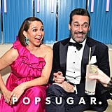 Pictured: Maya Rudolph and Jon Hamm