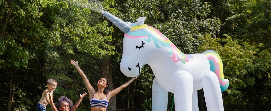 This 7-Foot-Tall Unicorn Sprinkler Is So HUGE, You'll Need It For Every Summer BBQ