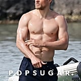 Charlie Hunnam Shirtless on the Beach in Hawaii March 2018
