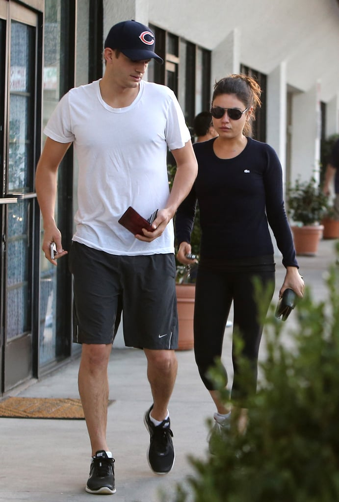 Ashton Kutcher and Mila Kunis were together to visit a foot spa in LA yesterday. They treated themselves to some pampering after showing PDA while out for an early morning dog walk. Ashton and Mila are side by side on the West Coast after work took her east. Mila was recently in NYC to shoot The Angriest Man in Brooklyn, but Ashton made sure not to make their relationship long distance. He visited Mila in the Big Apple, and the duo were seen all around town on dinner dates and coffee runs and even kissing in Central Park. They had some celebrating to do after Mila was crowned Sexiest Woman Alive by Esquire earlier this month.