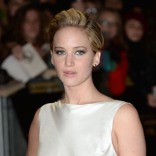 Jennifer Lawrence With Pixie Cut at Catching Fire London