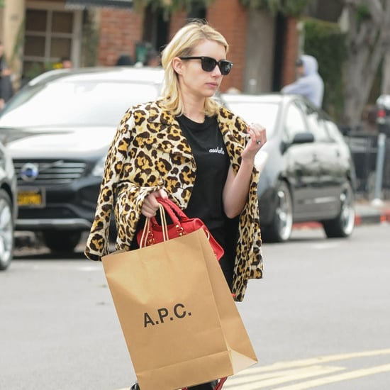 Emma Roberts Wearing Elkin Asshole T-Shirt January 2017