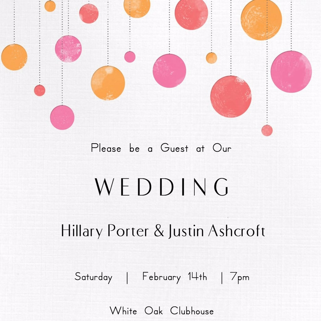 Free wedding invitation printable templates free printable wedding invitations popsugar smart living pronofoot35fo Gallery