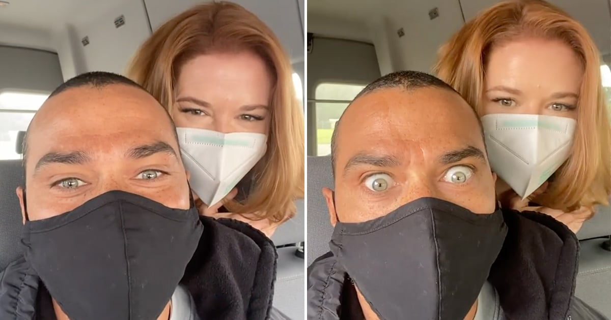 Sarah Drew and Jesse Williams Reunited on the Grey's Anatomy Set, and Our Hearts Can't Take It