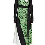 DVF Maureen Leaf Print Silk Wrap Dress