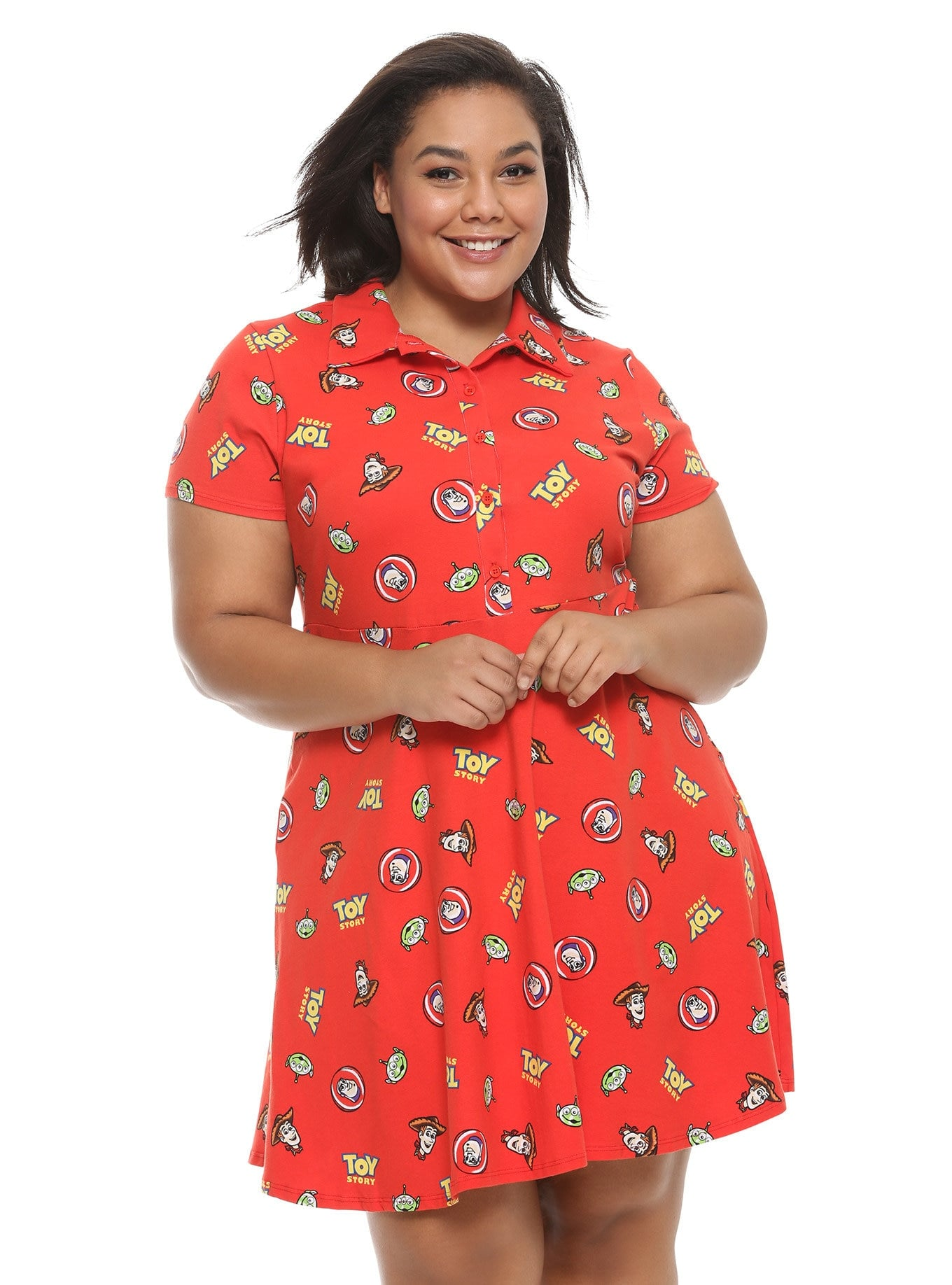 Disney Pixar Toy Story Red Collared Dress Plus Size   Take ...