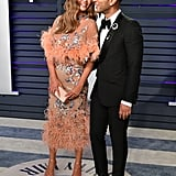 Chrissy Teigen and John Legend at the Vanity Fair Oscar Party