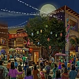 Disneytown's Spice Alley Rendering
