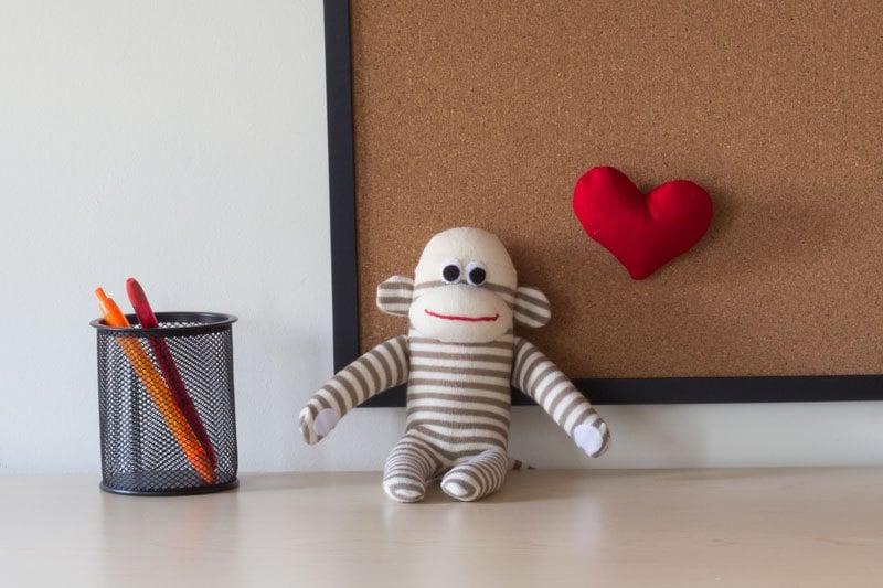 Monitor Topper Sock Monkey