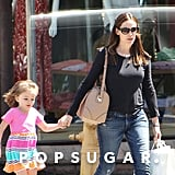 Jennifer Garner and Seraphina Affleck walked through LA on Thursday.