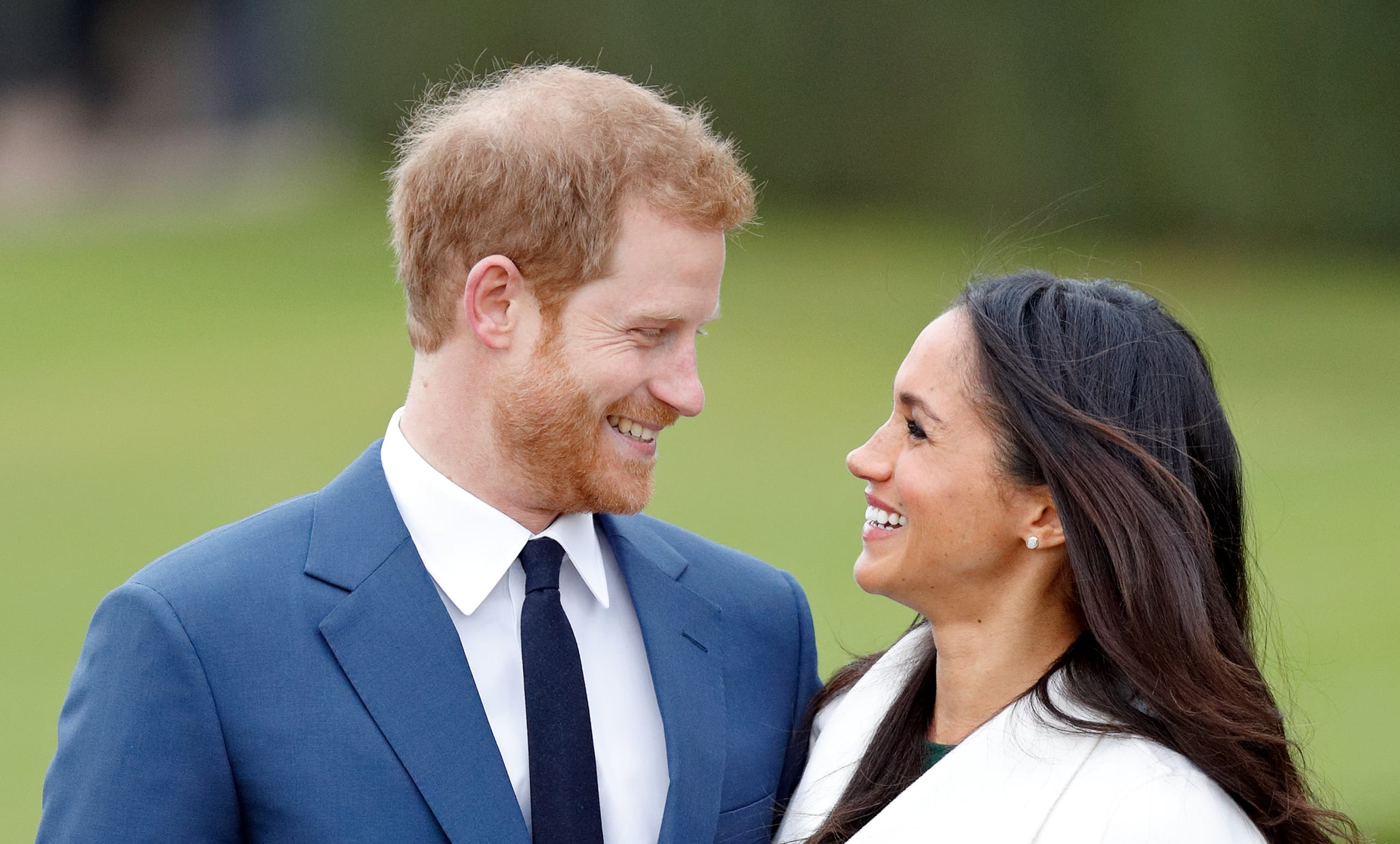 LONDON, UNITED KINGDOM - NOVEMBER 27: (EMBARGOED FOR PUBLICATION IN UK NEWSPAPERS UNTIL 24 HOURS AFTER CREATE DATE AND TIME) Prince Harry and Meghan Markle attend an official photocall to announce their engagement at The Sunken Gardens, Kensington Palace on November 27, 2017 in London, England.  Prince Harry and Meghan Markle have been a couple officially since November 2016 and are due to marry in Spring 2018. (Photo by Max Mumby/Indigo/Getty Images)