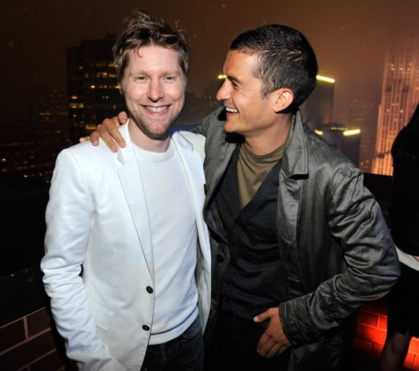 Christopher Bailey and Orlando Bloom