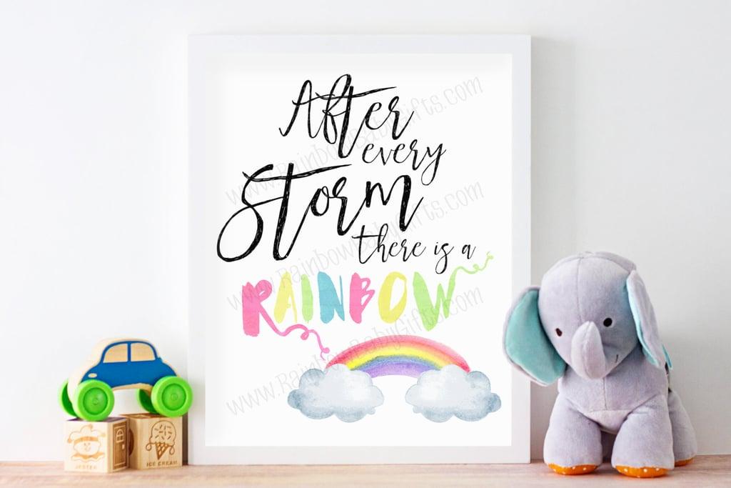 Rainbow Baby Nursery Wall Art
