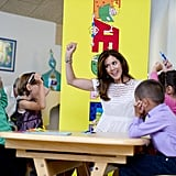 Crown Princess Mary of Denmark was a hit when she visited a primary school in Copenhagen on August 28.