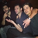 "Ian Bohen: ""Uh oh. Looks like we've done it again haven't we... @tylerl_hoechlin and Legend."""