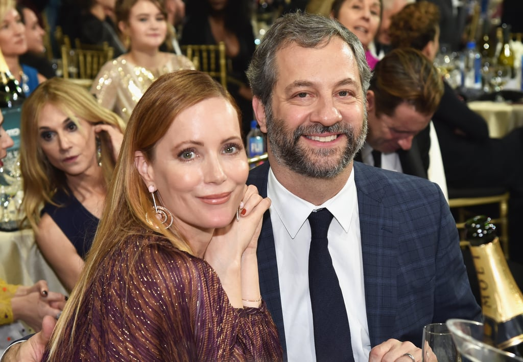 Pictured: Leslie Mann and Judd Apatow