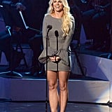 Britney Spears stepped out in LA to pay tribute to Whitney Houston.