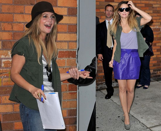 Pictures of Drew Barrymore Promoting Going The Distance in NYC