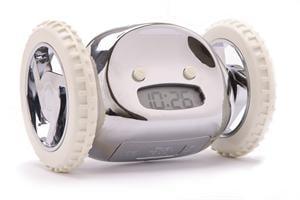 Clocky The Mobile Alarm Clock on Wheels ($50)