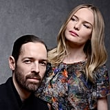 Couple Michael Polish and Kate Kosworth took portrait pictures at Sundance to promote their movie Big Sur Tuesday.