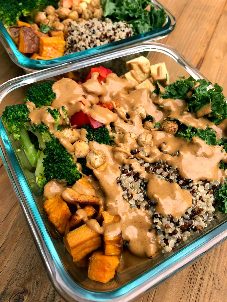 Sweet Potato, Chickpea, and Broccoli Buddha Bowl Meal Prep