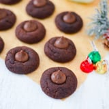 Chocolate Peanut Butter Blossom Cookies