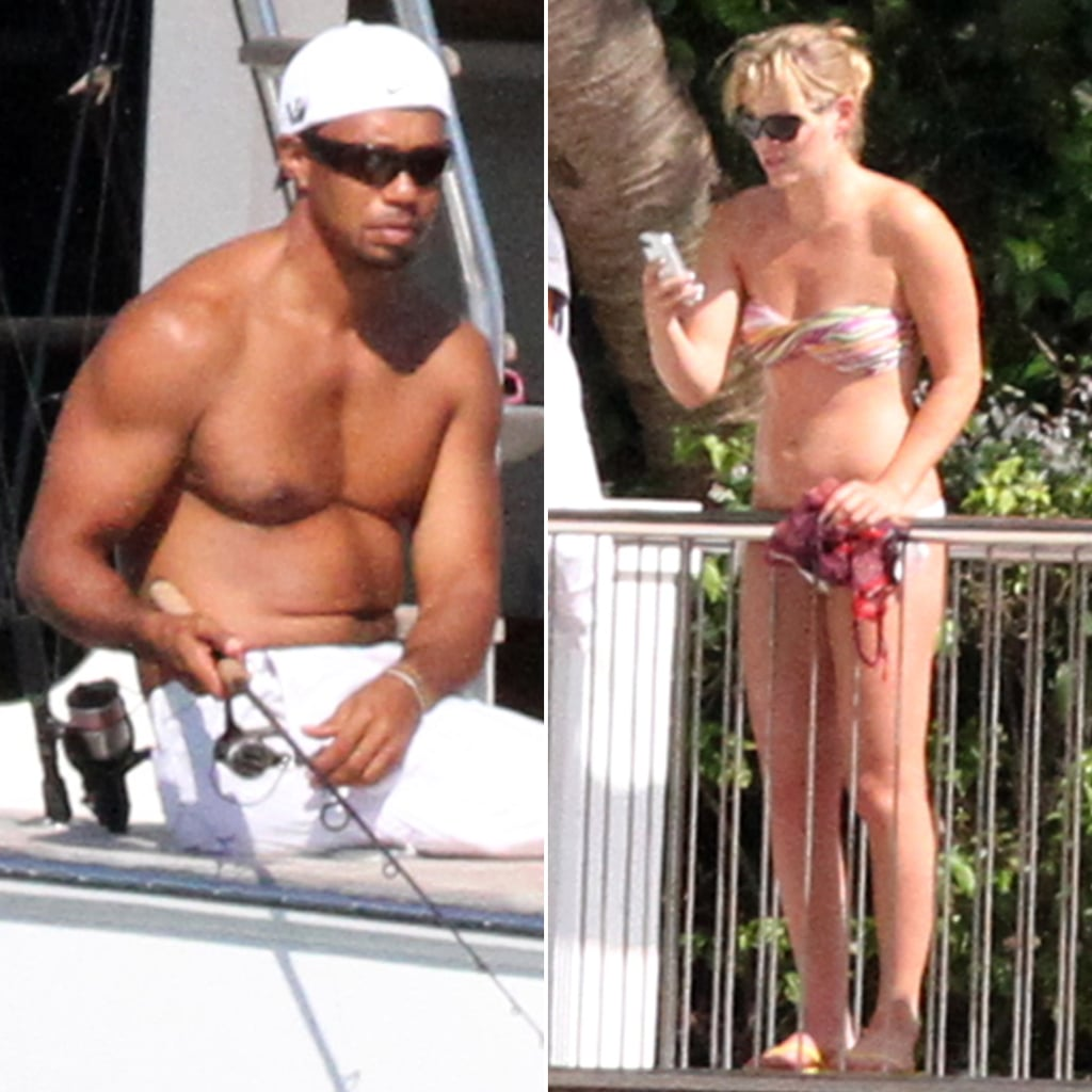 Tiger Woods Fishing With Lindsey Vonn
