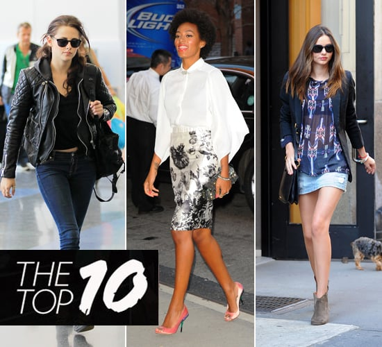 Pictures of This Week's Top Ten Best Dressed Celebrities 25th March Kristen Stewart, Beyonce, Miranda Kerr & More!