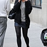 Katie Holmes chatted on the phone while out in NYC.