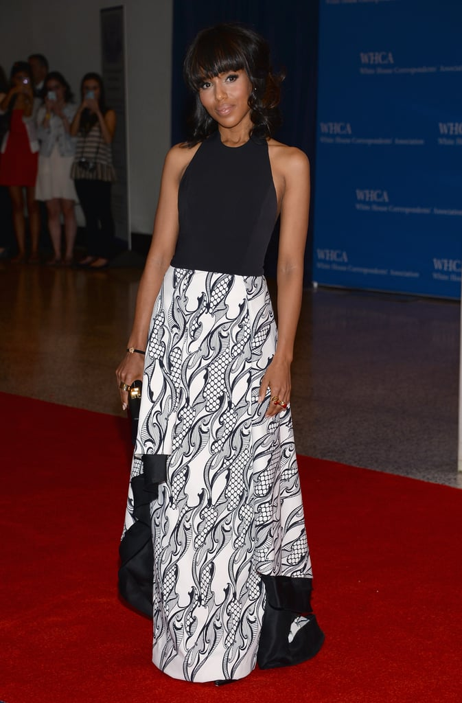 Kerry Washington was a vision in her black-and-white Wes Gordon creation.