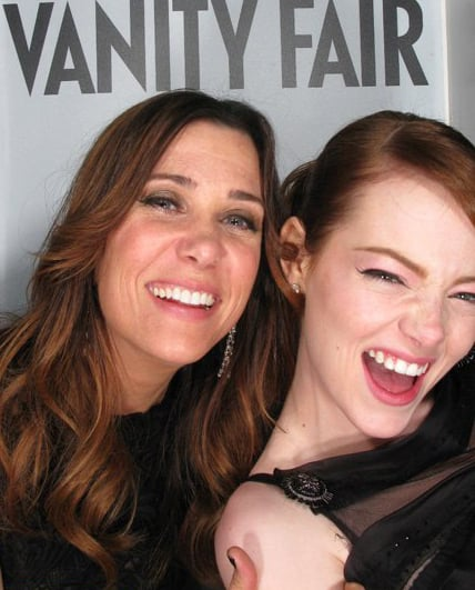 Emma Stone and Kristen Wiig joked together.