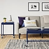 Metal Accent Table in Navy
