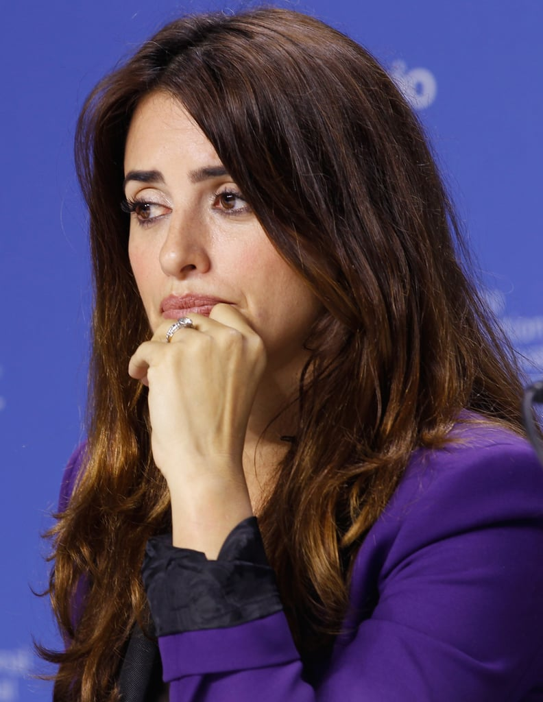 Penelope Cruz Goes Bold in Purple at TIFF